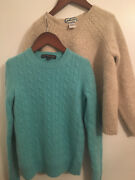 Girls Sweater Pendleton Lambswool Brooks Brother Cashmere Craft Lot 2 Size S M L