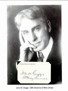 John W Griggs Autograph Attorney Genera Assembly New Jersey Governor Senate