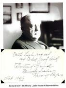 Bertrand Snell Autograph House Minority Leader Amherst College New York