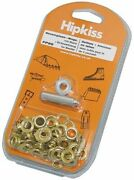 Hipkiss Brass Eyelets And Tools In Diy Set 10 Mm 25 Pcs
