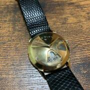 Lord Elgin Wristwatch Watch Men Vintage Rare Jewelry 1950and039s The Chevron 14k F/s