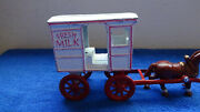 Cast Iron Reproduction Of Classic Milk Wagon And Horse