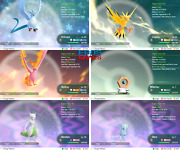 Pack 6ivs Articuno Zapdos Moltres Mew Mewtwo Meltan - Lets Go Pikachu Eevee