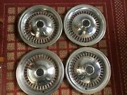 1977-1979 Ford T-bird Set Of Four 15 Inch Oem 36 Slots Hubcaps