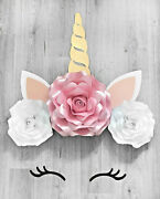 Giant Large Unicorn Roses Flowers Birthday Party Backdrop Room Wall Decoration