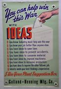 1942 You Can Help Win This War With Ideas Wwii War Poster 22 X 34