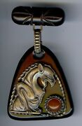 Fabulous Huge Rare Vintage Bakelite And Brass Griffin Pin Brooch