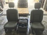 10-18 Dodge 3500 Front Seat Set Driver And Passenger Console Cloth W/bag