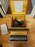 Vintage Used Ashcroft Type 1300 Dead Weight Gauge Tester Complete With Weights