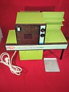 Vintage 1973 Green Betty Crocker Easy-bake Oven With Baking Pan As-is