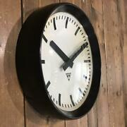 All Clock Vintage Wall Decor Watch Rare Collectible Metal White Czech F/s