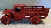 1920's Arcade Toys Cast Iron Ford Stake Truck 4-3/4 Inches Long 213 Disc Wheels