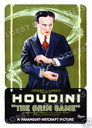 The Grim Game Lobby Card Poster Os 1919 Harry Houdini