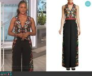 Alice And Olivia Nwt Sold Out Size 12 Nilsa Embroidered Jumpsuit Seen On The Talk