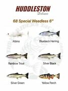 Huddleston Deluxe 68 Special Weedless Swimbaits - Choose Pattern / Rate Of Fall