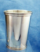 Vintage 101 Sterling Silver Mint Julep Cup By International W/engraving