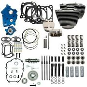 Sands 107 - 124 Oil Cooled Power Package Gear Drive Black Harley Touring Softail