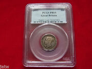 Great Britain. 1853 Proof Sixpence.. Rare - Mintage Of Only 40 Pces.. Pcgs Pr64
