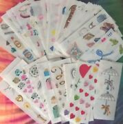 2 Strips Creative Memories Wedding Baby Stickers All Discontinued Vintage