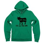 Mens Life Goal Pet All The Cows Hoodie Cattle Country Animal Farm