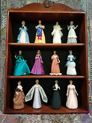 12 Great American Women Figurines In Wooden Case By The Us Historical Society