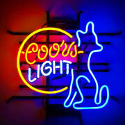 Neon Signs Coors Light Doggy Beer Bar Pub Party Homeroom Decor For Gift 19x15