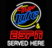 Neon Signs Miller Lite Served Here Beer Bar Pub Party Store Room Wall Decor32x24
