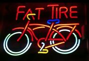 Neon Signs Rare Fat Tire Beer Bar Pub Party Store Homeroom Decor For Gift 19x15