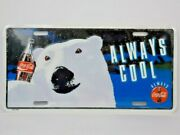 Coca-cola Always Cools Collectors License Plate/sign 1994 New Factory Sealed