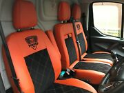 Mercedes Vito Seat Covers Eco Leather+alcantara Bentley Stitching And 2logos