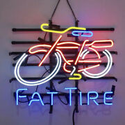 Neon Signs Gift Fat Tire Beer Bar Pub Party Store Home Room Wall Dispaly 19x15