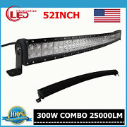 52inch 300w Curved Led Work Light Bar Combo Driving Off Road Suv Trailer Boat