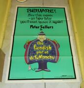 Original The Fiendish Plot Of Dr. Fu Manchu One-sheet Poster Peter Sellers