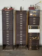 Antique Metal Flexo Crystal Watchmakers Cabins And Parts Tools No Shipping
