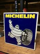 Vintage Michelin Sign Collectible Wall Decor Rare F/s Tireman Old Model