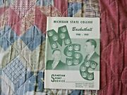 1948-49 Michigan State Spartans Basketball Media Guide Yearbook 1949 Program Ad