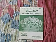 1947-48 Michigan State Spartans Basketball Media Guide Yearbook 1948 Program Ad
