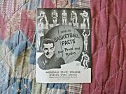 1950-51 Michigan State Spartans Basketball Media Guide Yearbook Pete Newell 1951