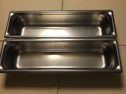 2-vollrath Super Pan 3 Stainless Steel Buffet Hot Cold Sald Bar Prep. Table Pan