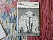 1965 George Washington Colonials Football Media Guide Yearbook Program College