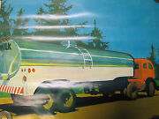 1968 National Dairy Council Poster Taking Milk Into The City Farm Ad