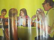 1968 National Dairy Council Poster Enjoying Milk Every Meal Farm Ad
