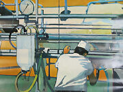 1968 National Dairy Council Poster Milking Time On The Farm Farm Ad