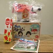 70's Vintage Snoopy Toy Auto Tooth Brush Popy Rare Collectible Japan F/s