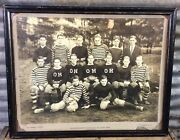 Rare Antique 1918 Old Hundred Football Eleven Championship Team Cabinet Photo
