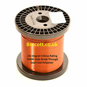 Enamelled Copper Wire 34awg To 12awg, Magnet Wire 10kg Spools, Free Post Uk