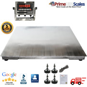 5and039x5and039 60x60 Stainless Steel Floor Scale And Indicator   Wash Down   10000 Lb