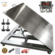 D3and039x3and039 36x36 Stainless Steel Floor Scale And Indicator   Wash Down   1000 Lb