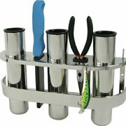 3 Tube Outrigger Rod Holder Tackle Rack Stainless Steel Holder Solid Fishing
