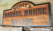 Large Rustic Cedar Sign Custom Personalized Carved Wood Signs  Exterior Thick